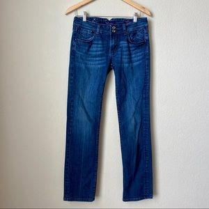🦒 Vigoss Collection Straight Fit Blue Jeans ⅞ 29
